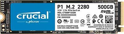 Crucial CT500P1SSD8 P1 500 GB 3D, NAND, NVMe, PCIe, M.2, Solid State Drive