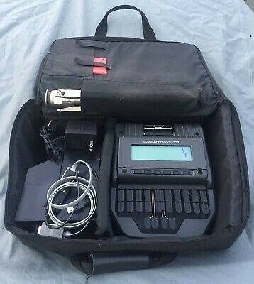 Stenograph Stentura 8000 court reporting writer with accessories. Good condition