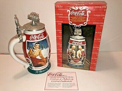 NEW COCA-COLA 2000 HISTORICAL SLOGANS SERIES STEIN 2nd Ed. BY CERAMARTE
