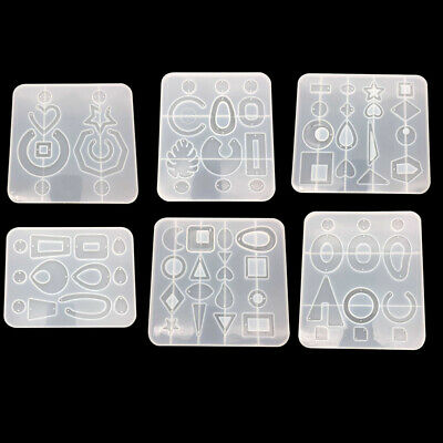 DIY Silicone Resin Earring Pendant Epoxy Mold Craft Jewelry Making Molds UK