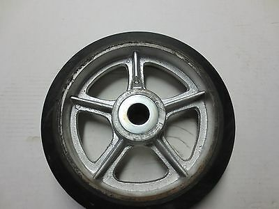 Industrial Cart Wheel with Hard Rubber Tire