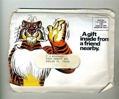 Exxon Customer Gift Packet Tiger Desk Top Organizer