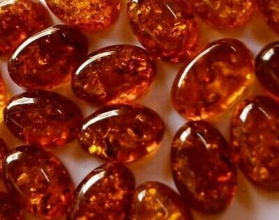 Designer dream Rare Natural Baltic Amber round cabochon size 9 mm lot of 4 pcs