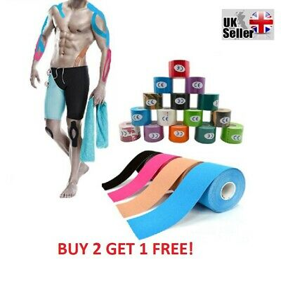 Kinesiology Tape Sports Muscle Strain Injury Support Physio Yoga Fitness 5Cm 5Mm