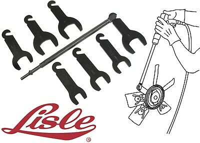 Lisle 43300 Pneumatic Fan Clutch Wrench Tool Set For Ford GM Chrysler New USA