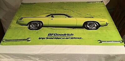 B.F. GOODRICH 1970 Plymouth Cuda New Original Unused Condition 2'x3' Poster