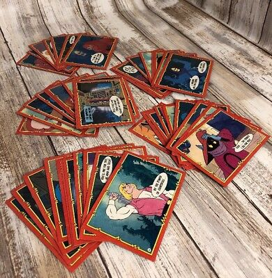 He-Man MOTU 1984 Trading Cards Lot Of 50 Trading Cards Masters Of The Universe