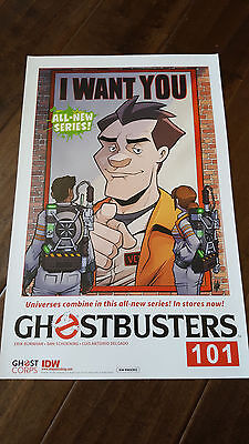 2017 Sdcc Wondercon Exclusive Idw Poster Ghostbusters I Want You 2 Sided Poster
