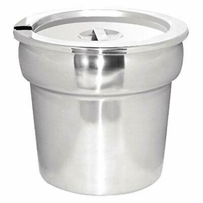 Vogue Bain Marie Pot  Lid 215X240X240mm 7 Ltr Stainless Steel Stockpot Saucepan