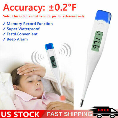 Digital Fever Thermometer for Adults and Kids, Medical Rectal Underarm Oral Body