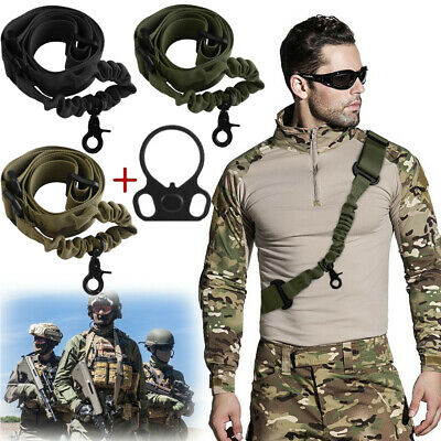 Tactical 2 Point/One Single Point Sling Bungee Rifle For Gun Strap Quick Buckle