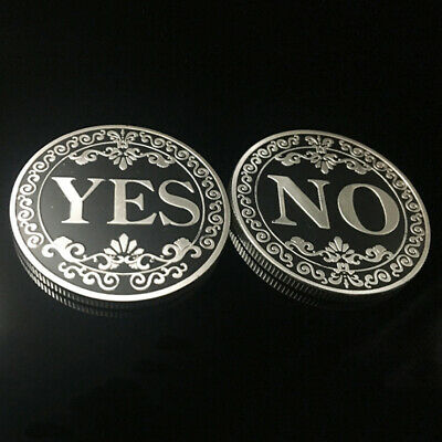 YES/NO 40mm American 3D Relief Decision Silver plated Commemorative Coin Collect