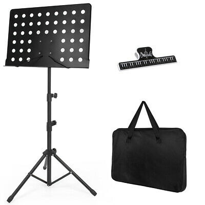 Music Stand for Sheet Sturdy Tripod Base Adjustable Height Metal Portable Holder