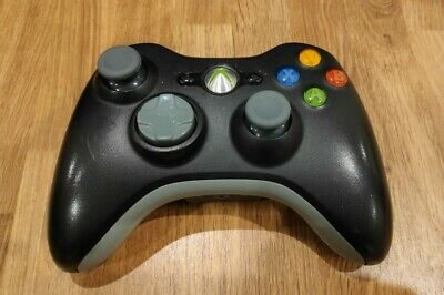 Official Microsoft Controller Black / Grey Wireless Xbox 360 new grips added.