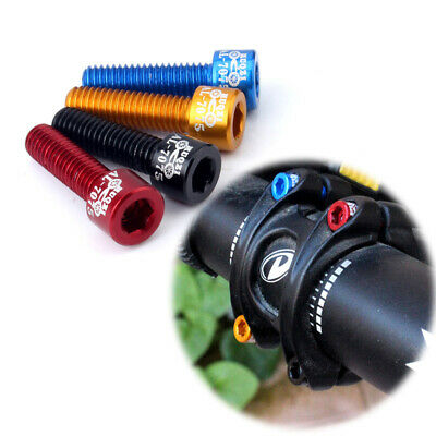 4 PCS Bicycle Water Bottle Holder Cage Holder Alloy Screws Fixed Gear Screws