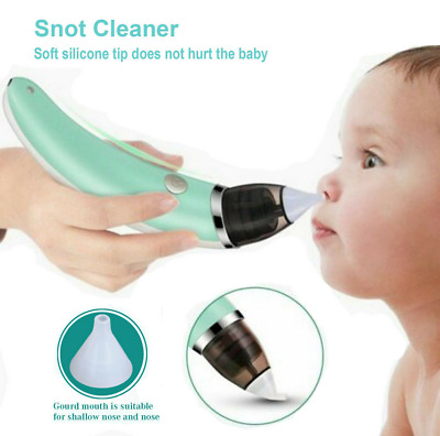 For Electric Baby Silicone Nasal Aspirator Vacuum Sucker Nose Mucus Snot Cleaner