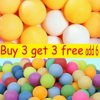1-100X Ping Pong Balls 40mm Mixed Colours No Logo Table Tennis Beer Wholesale C7