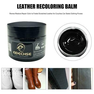 50Ml Eidechse Leather Recolouring Balm Cream Restorer Sofa Chairs 10 Colours A+