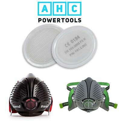 Stealth / Trend Safety Respirator Mask Replacement Filters Pack of 2 P3 99. 99%