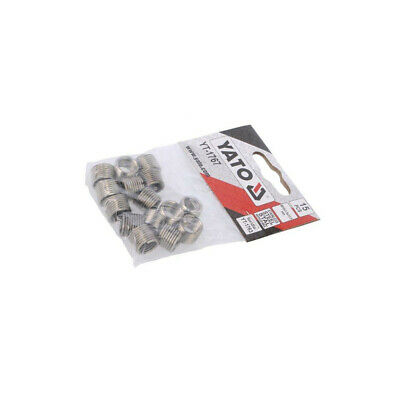 YT-1767 Threaded insert stainless steel M10 Pitch: 1,5 15pcs. YATO