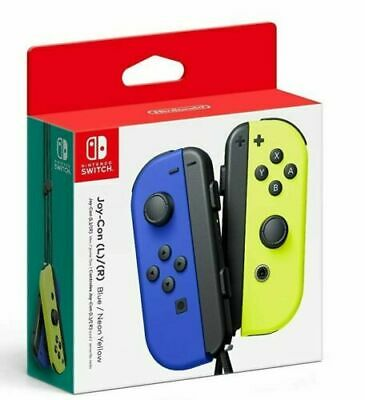 NEW Nintendo Switch Joycon Wireless Controller Official Blue Neon Yellow