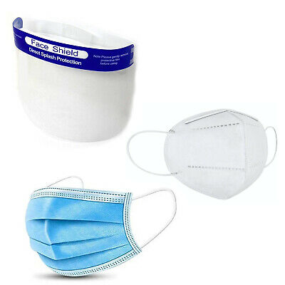 3-Ply Bundle Package With Face Shield And KN95 Face Mask, Disposable Masks