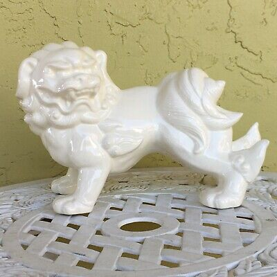"""Vintage Chinese Porcelain Foo or Temple Dog 12x8.25x6"""" Signed"""