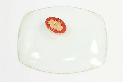 "CONVEX CLOCK GLASS - 4-3/4"" by 3-15/16"" - CLOCK PARTS - WR310"