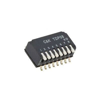 TDP08H1SBD1 Switch: DIP-SWITCH Poles number: 8 OFF-ON 0.025A/25VDC Pos: 2 C&K