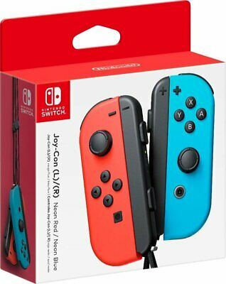 NEW Nintendo Switch Joycon Wireless Controller Official Neon Red Neon Blue