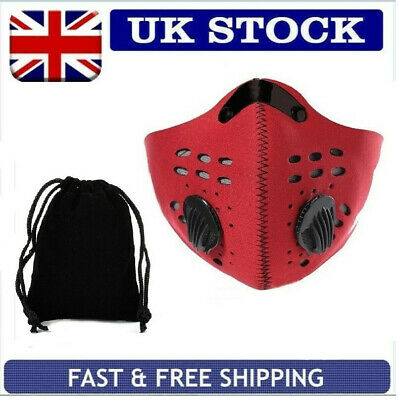 Uk Running Cycling Travel Pm2.5 Anti Pollution Face Mask Activated Carbon Filter
