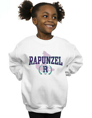 Disney Girls Princess Rapunzel Collegiate Sweatshirt