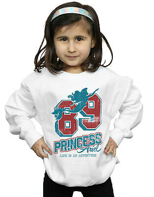 Disney Girls Princess Ariel 89 Varsity Sweatshirt