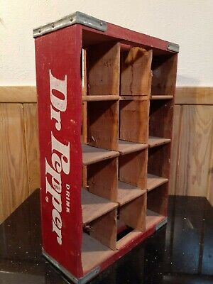Vintage Drink DR PEPPER Wood Soda Pop 12 Slot Crate DUBLIN TX ~ 1975 CHATTANOOGA