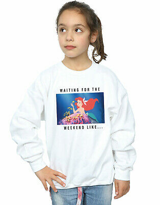 Disney Princess Girls Ariel Waiting For The Weekend Sweatshirt