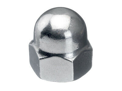 100x Hexagon domed cap nut, high type DIN 1587 Stainless steel A1 50 M5