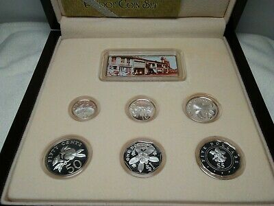 *RARE* Singapore Mint 2003 Sterling Silver Proof 6 Coin Set with Guarantee Card