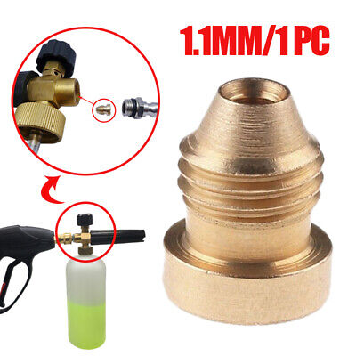Universal 1.1mm Brass Nozzle Mod Tips Replacement For Snow Foam Lance Cannon UK