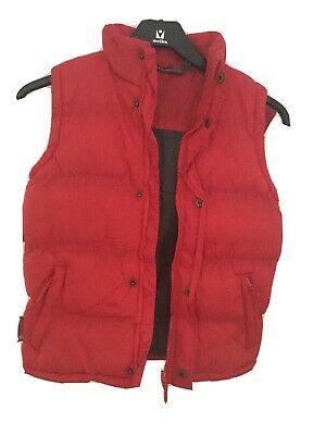 Red Girls Gillet, New Without Tags, Red With Detachable Hood Age 9/10