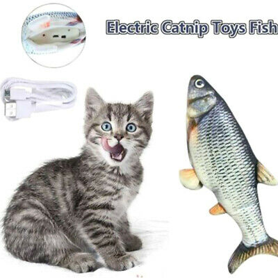 Electronic Pet Cat Toy Electric USB Charging Simulation Fish Toys for Cat Dog US