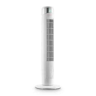 Ventilatore Torre Colonna Design Display LED 6 Livelli Oscillazione 80° Bianco
