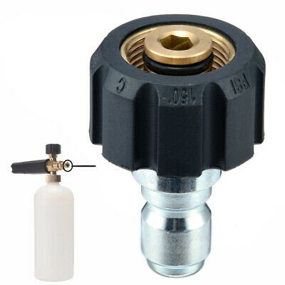 """Quick Release Female Connector For Pressure Washer 14mm M22 * 3/8"""" Male Plug:)"""