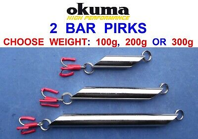 10 TRONIX CHROME BAR PIRKS FOR SEA FISHING NORWAY NORDIC BOAT ROD COD LURES RIGS