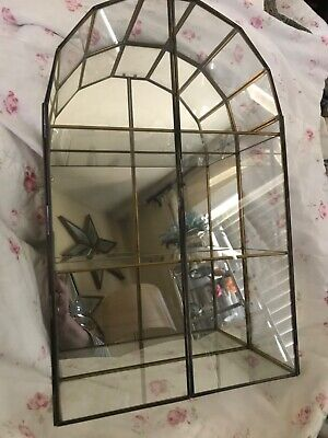Gorgeous Vintage Curio Cabinet with Leaded Glass