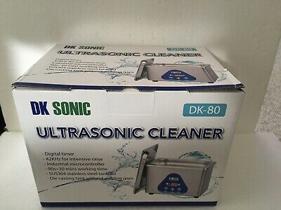 "Dk Sonic Dk-80 .8 Liter Ultrasonic Cleaner W/Timer ""Brand New"""