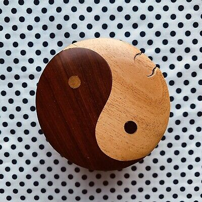 Yin And Yang Wooden Puzzle Box