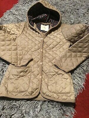 Khaki girls Jacket / Coat Age 12-13 Quilted