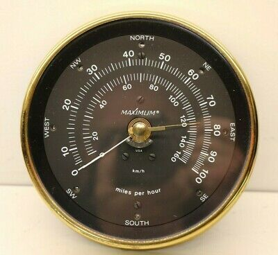 Vintage Maximum Instruments Anemometer Wind Speed & Direction Weather Station