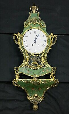 An 18th Century Louis XV Gilt-Bronze Mounted Chinoiserie Bracket Clock