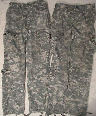 2 Pair Trousers ACU Universal Camo, Size SMALL REGULAR, NSN 8415-01-519-8423 VG